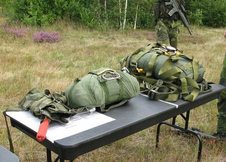 Presentation av fallskärmsutrustning
