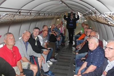 Förevisning av Lägrets DC-3